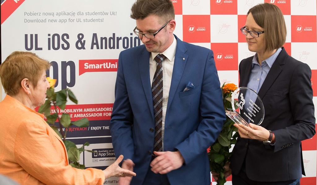 Vice-President prof. Zofia Wysokinska of University of Lodz, Mr Marcin Witczak of EUPRIO and Liliana Lato, Head of IRO of the University of Lodz